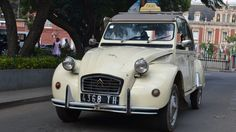 The 2CV is a vintage French car. But it is the car of choice for taxi drivers in the African island of Madagascar.