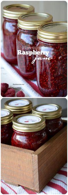 How to Make Raspberry Jam by http://theidearoom.net