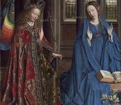 jan van eyck   Detalle de «La Anunciación», de Jan van Eyck (ca. 1430-1435)