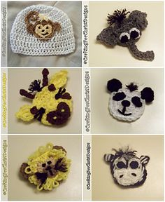 """""""The Zoo Crew"""" Applique Pattern Pack ~ free patterns ᛡ"""