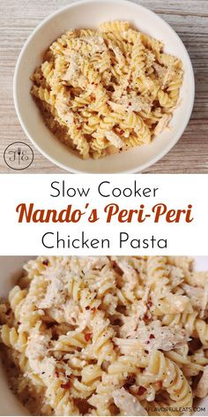 Slow Cooker Nando's Peri-Peri Chicken Pasta is a family favorite at dinnertime! Made with Nando's amazing Peri-Peri sauce, cream cheese, and some basic pantry items, this heavenly chicken pasta is a cinch to make. Just add the slow cooked chicken and its flavorful sauce to your favorite pasta and dinner is done! Slow Cooked Chicken, How To Cook Chicken, Nandos Peri Peri Chicken, Chocolate Fudge Frosting, Real Food Recipes, Delicious Recipes, Recipe Boards, Entree Recipes, Chicken Pasta