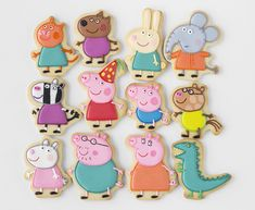 peppa pig galletas Peppa Pig is usually a British toddler super-hero tv set series instructed Peppa Pig Cookie, Peppa Pig Birthday Cake, Birthday Cookies, Peppa Pig Cupcake, Peppa Pig Cakes, Peppa Pug, Peppa Pig Y George, George Pig Party, George Pig Cake