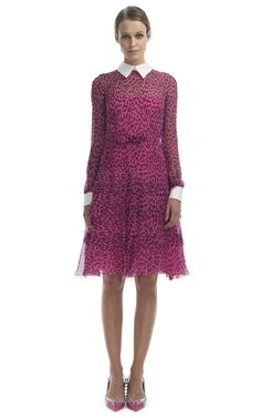 Graphic Leopard Ruffle Skirt Shirt Dress by Valentino for Preorder on Moda Operandi