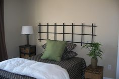 asian+headboards | This trellis cost less than $12... How about painting it a cool color ...