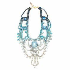 Doloris Petunia Paris Statement Necklace, Bleu