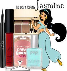 Jasmine's makeup, love the nail polish color