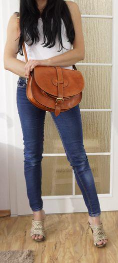 Leather Saddle Bag Leather Messenger Bag Leather bag