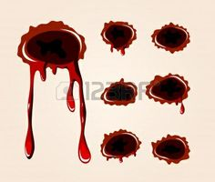 Wounds 9857704-bullet-wound-collection.jpg (401×340)