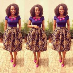Ankara Skirt and Top for Ladies. #AfricanPrint