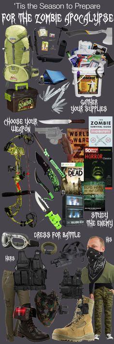 Prepare for the Zombie Apocalypse [ Swordnarmory.com ] #Apocalypse #Zombies #swords