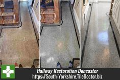 This beautiful Terrazzo floor was uncovered in the hallway of a house in Doncaster, as you can see it had taken a bit of a beating over the years, but the owners were keen on having it restored. Restoring period features like these are a great idea as they are very sought after and can add a lot of value to a property. South-Yorkshire.TileDoctor.biz/restoration-of-an-iconic-terrazzo-floor-in-doncaster