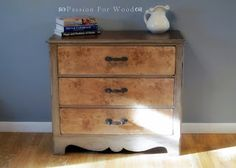 Refinished dresser by Passion for Wood.