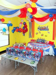 Jump2It: Superhero, Avengers themed birthday party
