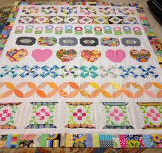 Moda Bake Shop: WINNERS! Trifle Dish Sew-Along Pictures of Sew-Along blocks and quilt tops