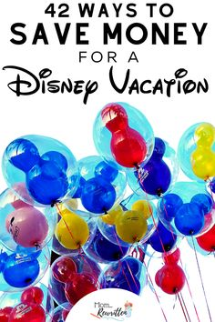 Take the magical Disney vacation of your dreams with these 42+ budgeting tips on how to save money every day towards your trip! Disneyland and Disney World are within your reach when you save money for vacation using these practical ideas for everyday saving, how to cut back in big ways and where to trim your spending. #Disney #DisneyTips #DisneyVacation #FamilyTravel #TravelPlanning #BudgetTravel #TravelBudget