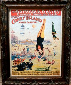 Items similar to Great Coney Island Water Carnival Circus Poster from 1898 Art Print on Parchment Paper on Etsy Carnival Nursery, All Poster, Poster Prints, Posters, Hot Tub Time Machine, Circus Poster, Coney Island, All Print, Canvas Prints
