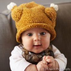 Melondipity Little Turkey Thanksgiving Baby Hat - Brown Winter Crochet Beanie: Clothing