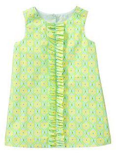 Ruffle print shift dress | Gap
