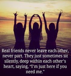 Are you searching for real friends quotes?Check out the post right here for cool real friends quotes ideas. These hilarious quotes will make you enjoy. Three Best Friends Quotes, Besties Quotes, Best Friends Forever, My Best Friend, Bffs, Bestfriends, Forever Friends Quotes, Crazy Friends, Fake Friends