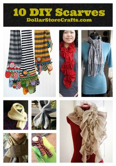 10 DIY Scarf ideas - these are really cute!