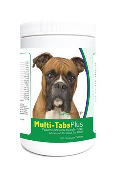 Healthy Breeds 1365-boxr-003 365 Count Boxer Multi-Tabs Plus Chewable Tablets, One Size >>> Check this awesome image  : Dog food types