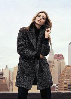 MANGO - CLOTHING - Coats - Texture wool-blend oversize coat