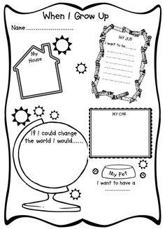 when i grow up - Free Printable Kids Activities