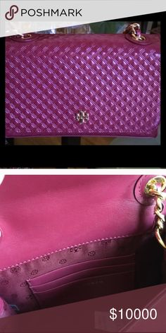 AUTHENTIC BURGUNDY  TORY CROSSBODY In pristine condition! Absolutely stunning! Carried once!  Bags Crossbody Bags