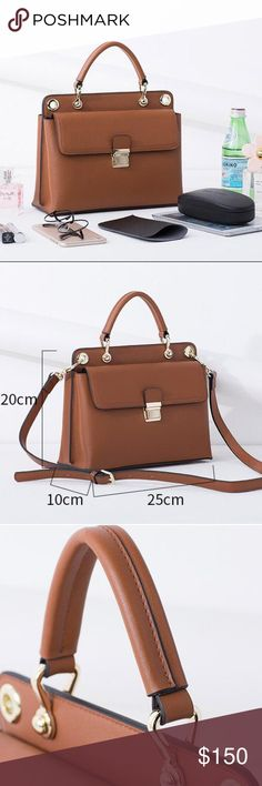 Bag Popular new design real leather ladies handbag Color in stock: Red, wine-red, grey, green, black Material: Genuine leather Size:L25*H20*10CM Bags