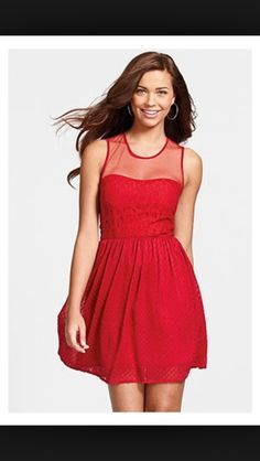 Red brides mate dress
