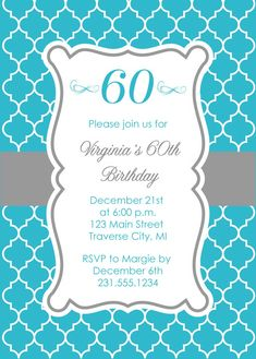 Like the band of solid color behind this shape for logo Quatrefoil Adult Birthday Invitations