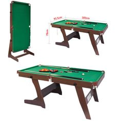 Room Game Deluxe Billiard Cues Chalk Folding Green Snooker Pool Table Billiard  #Unbranded Ebay $361