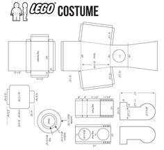 Lego Costume Template