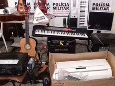 Polícia Militar recupera instrumentos musicais e eletrodomésticos furtados no Consep em Ipaba