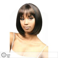 Sweety Short Straight Sepia Full Bang African American Wigs for Women 12  Inch 455a6af371