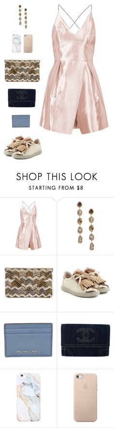 """""""Brunello Cucinelli Leather Sneakers"""" by sol4nge ❤ liked on Polyvore featuring Topshop, Saqqara, Sole Society, Brunello Cucinelli, Michael Kors, Chanel, Forever 21 and SNEAKERSANDDRESSES"""