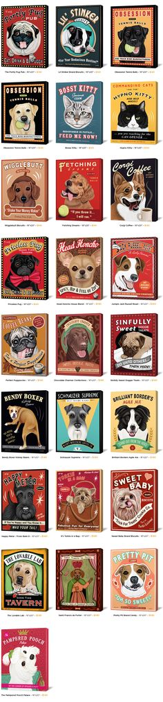 Vintage dog posters - awesome!