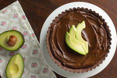 Avocado Chocolate Mousse Tart - The Viet Vegan Chocolate Avacado, Chocolate Mousse Cake, Chocolate Flavors, Melting Chocolate, Coconut Whipped Cream, Toasted Coconut, Vegan Butter, Just Desserts, Food Processor Recipes