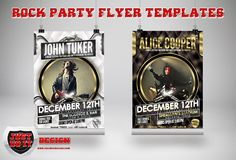 These 2 flyer templates are ideal for live band events, rock concerts, club events, parties. With a professional RICH AND LUXURIOUS look, these flyers are sure to arouse interest to your events.  Features    * Print Ready, 300 dpi, cmyk, .25 bleed included  * 1 DESIGN – 2 COLOR VARIATIONS (WHITE & BLACK )  * Well documented help file  * 100% Editable, each element sits on it's own layer  * Fonts Included  * Awesome Rock Flyers    Cheers!!    Click The Button Below To Grab Your FREE Copy!