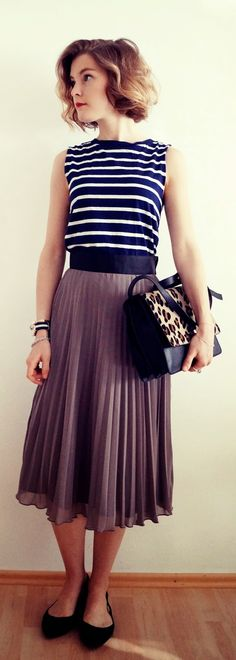 plissee skirt. wildsau weissblau. Business Fashion, Business Casual, Summer Styles, Persona, Midi Skirt, Tulle, Women's Fashion, Fancy, Outfits