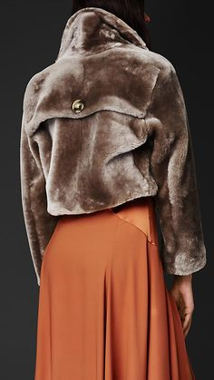 Burberry Prorsum Cropped Shearling Jacket