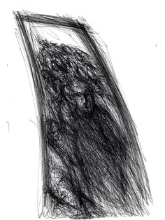 iPad study, Wakefield Artist Tim Burton.