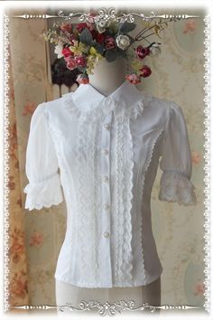 Infanta Peter Pan Collar Short Sleeves Lolita Blouse