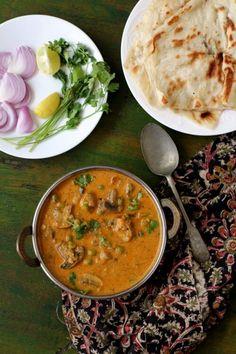 matar mushroom recipe, a creamy, tasty, restaurant style mushroom curry made…