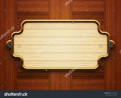 Wooden Doorplate On The Wooden Background Стоковые фотографии 125749619 : Shutterstock