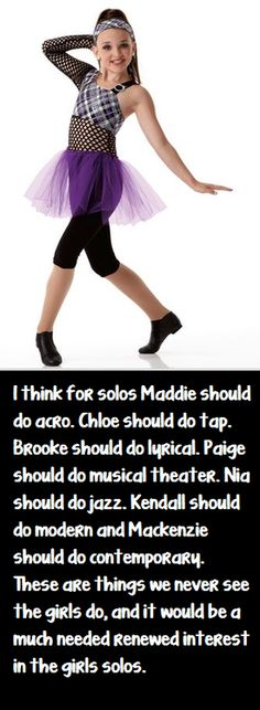 dance moms kendall I love her outfit!! I am a dancer myself and i can relate to them when they have a twisted ankle or something like that