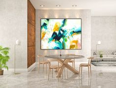 Abstract Canvas Art - Large Painting on Canvas, Contemporary Wall Art, Original Oversize Painting Large Abstract Wall Art, Blue Abstract Painting, Large Canvas Art, Large Painting, Canvas Wall Art, Abstract Paintings, Painting Art, Bedroom Paintings, Oil Paintings