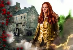 The great rose brier that overhung the door was newly in leaf, hundreds of tiny green buds just forming. Brianna looked up at it as she followed Young Jamie, and caught sight of the lintel over the door. Fraser, 1716 was carved into the weathered...