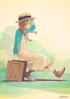 Pomodorosa, Anne of Green Gables art Art And Illustration, Illustrations, Character Illustration, Character Concept, Character Art, Concept Art, Cartoon Kunst, Cartoon Art, Manga Art