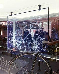L'intérieur de votre magasin à vélos peut être totalement cool avec une gravure sur verre